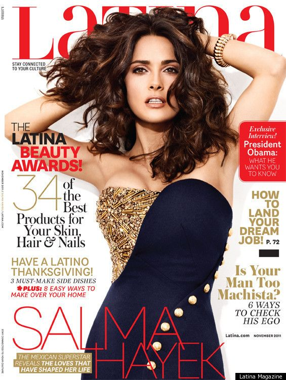 "Salma Hayek quotes, ""When I was 16, I looked 19. When I was 19, I looked 25. But I got stuck on 25 – thank God! – until I was 35. So that was good. But it's also important to take care of your skin because if you're not careful, one day you'll wake up and a spider will have taken over your face and you'll be full of lines."""