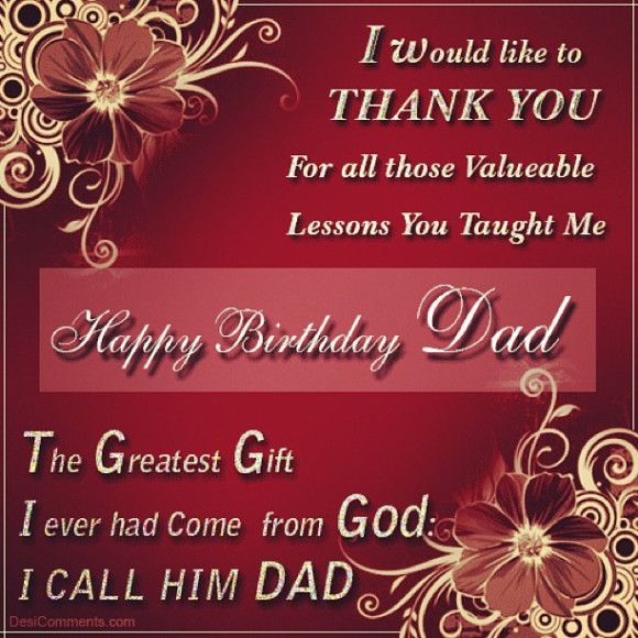Happy Birthday Cakes With Wishes cards For Dad hd pics