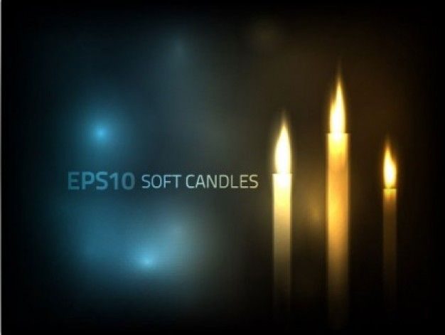 Beautiful cool candle light background abstract