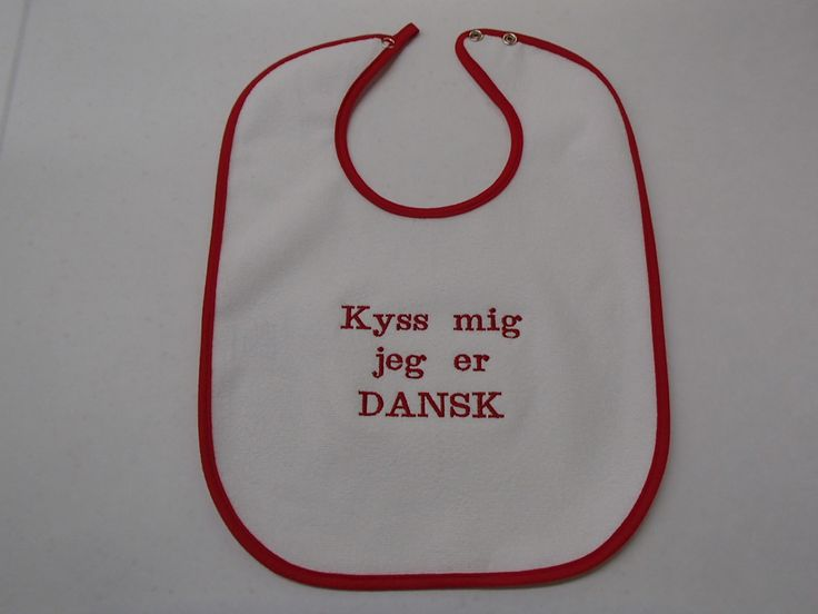 Baby Bib - Kyss meg Dansk