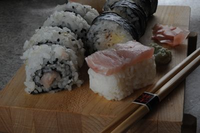 Travel by Stove: Recipes from Bouvet Island - Sushi Rice, Polar Roll, Spicy Tuna Roll and Tuna Nigiri