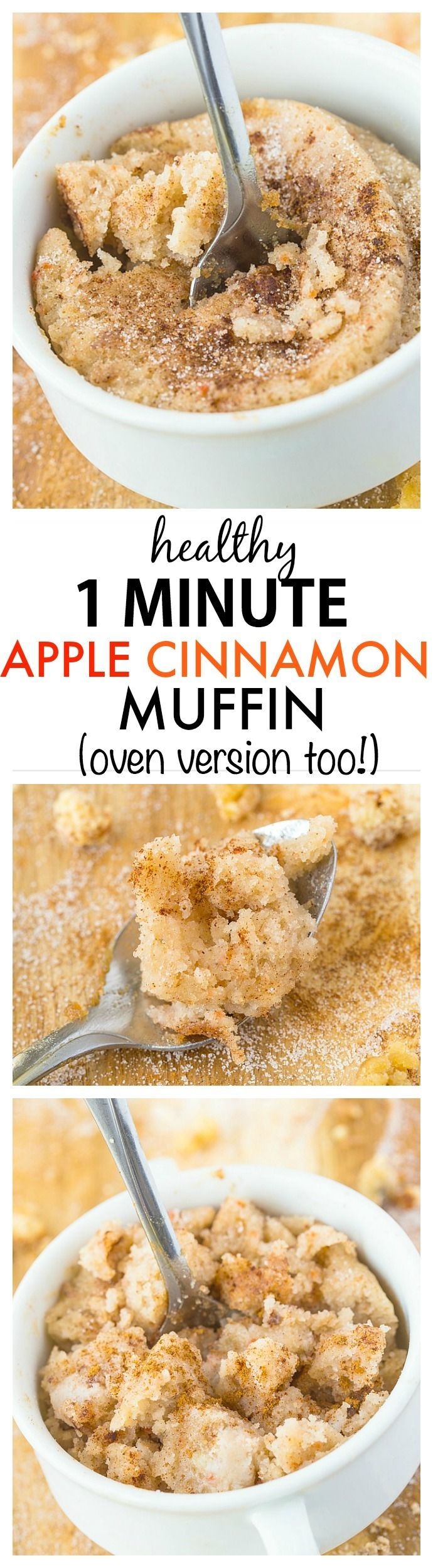 Healthy 1 Minute Apple Cinnamon Muffin recipe- A quick and easy one ...