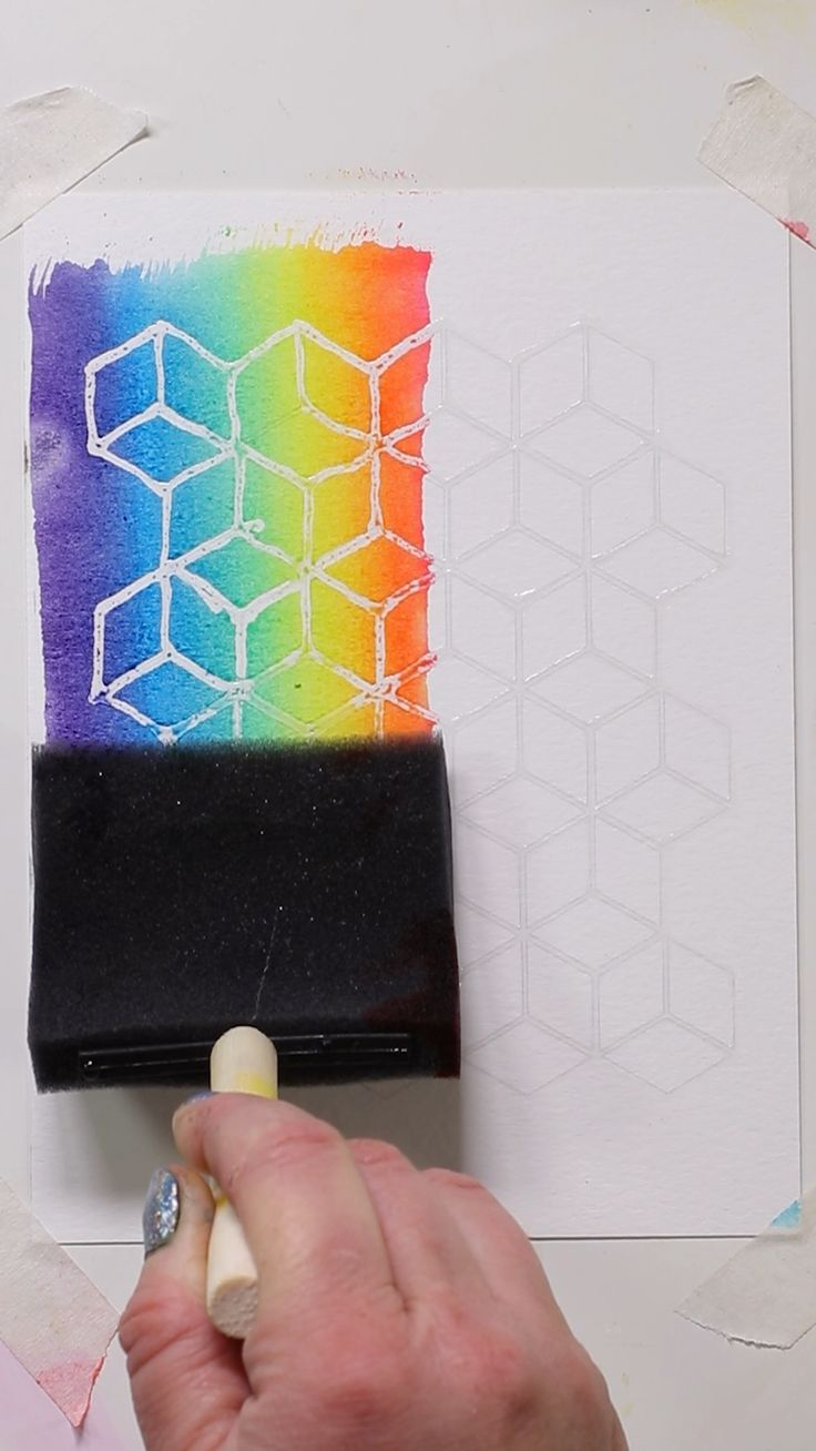 Use Polycrylic To Create A Resist And Watercolor Inks On A Sponge