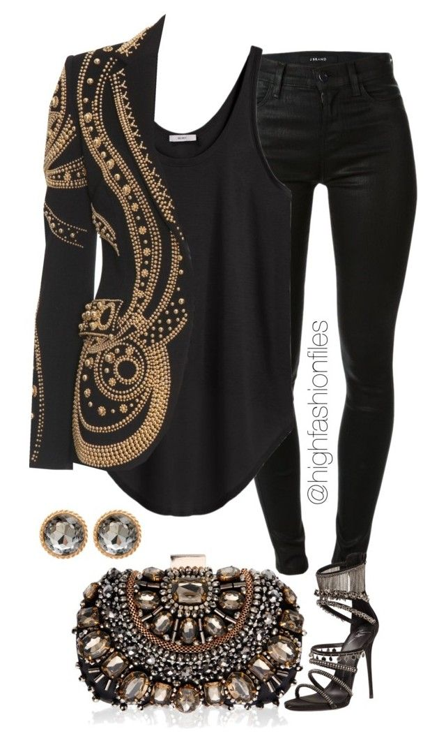"""""""Untitled #2010"""" by highfashionfiles ❤ liked on Polyvore featuring Lipsy, J Brand, Helmut by Helmut Lang, Giuseppe Zanotti and Emilio Pucci"""