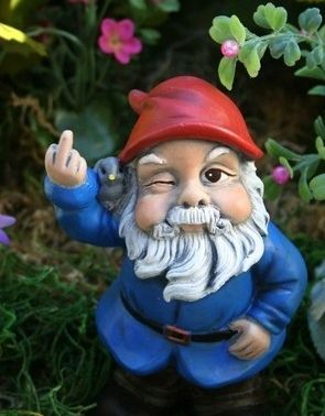 Now THIS I would totally put in my garden! Haha gnomes are creepy