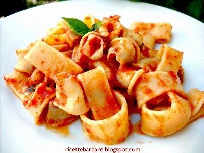 Ricette Barbare: pasta with squid