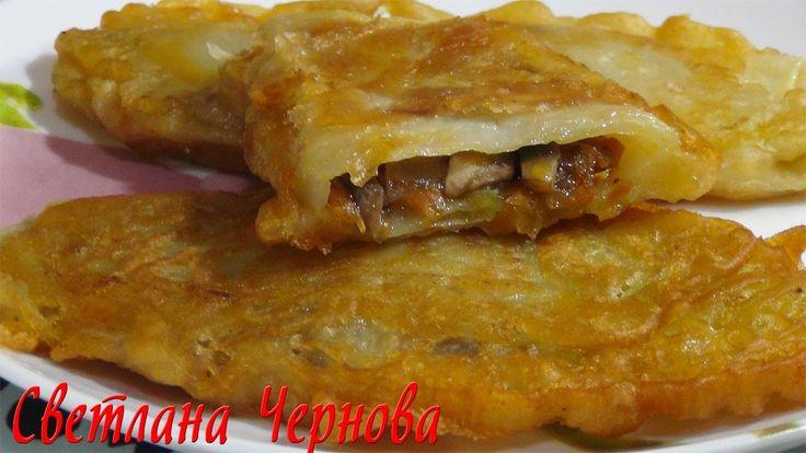 Шницели капустные с грибами ( постные )  /Schnitzels cabbage with mushro...