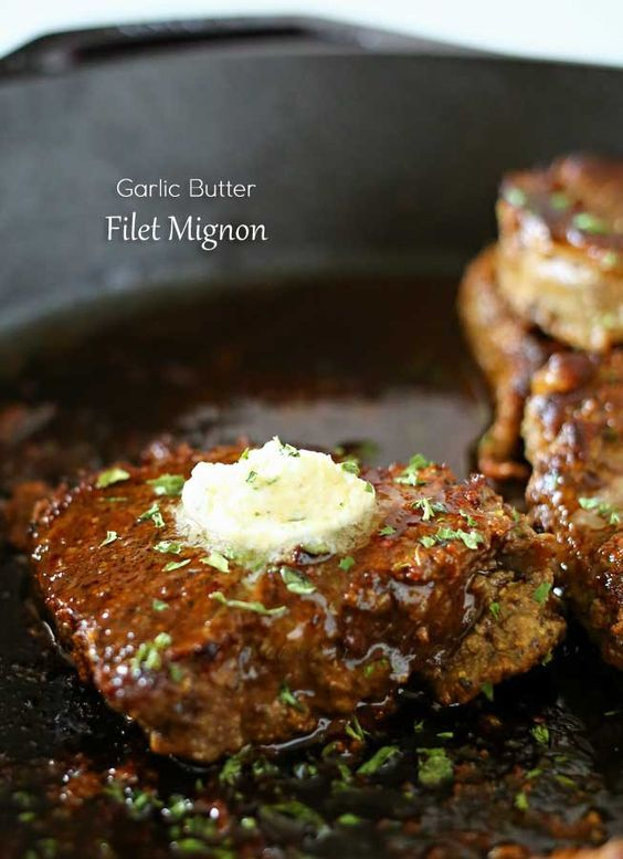 Garlic Butter Filet Mignon - Smothered in garlic butter it melts in your mouth…