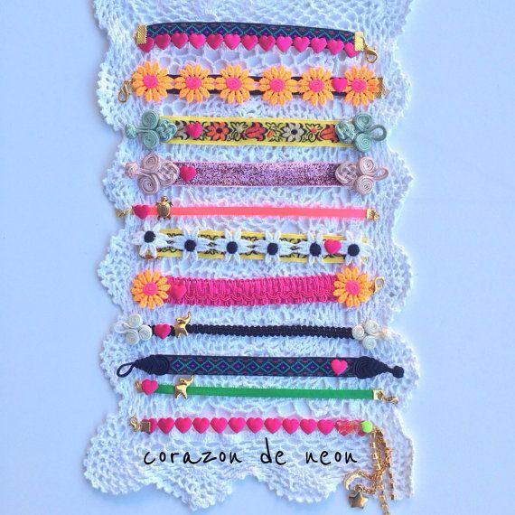 Bracelets by corazondeneon on Etsy, $8.00