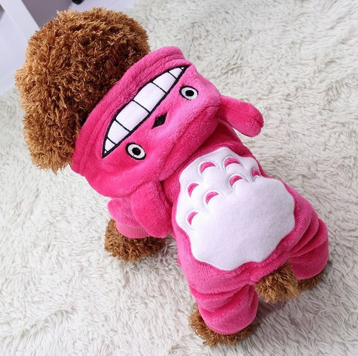 Cartoon Cute Totoro Design Pet Cosplay Costume Puppy Chihuahua Teddy Hoodie Clothes for Dogs and Cats Autumn Winter Warm Coat