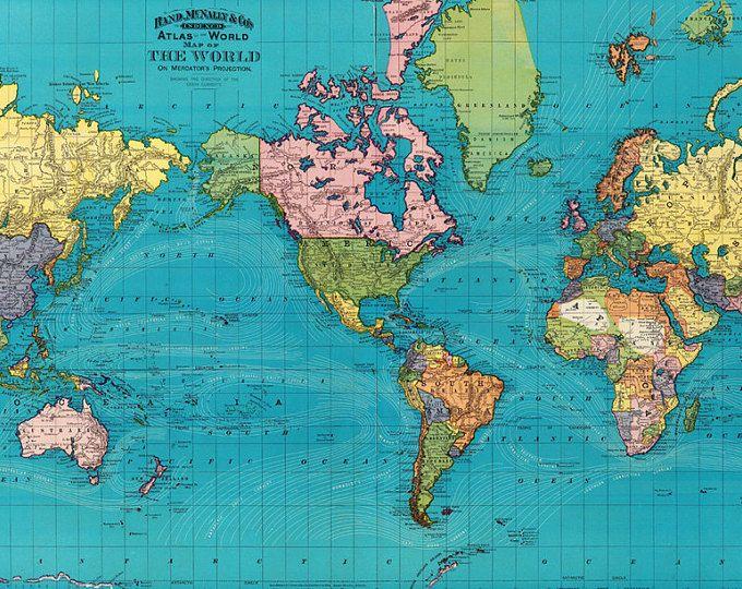 World map printable digital download.Vintage World Map. Old World Map - World Map high resolution - Instant Digital Download.PRINTABLE map.