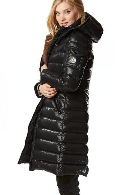 f019c609d moncler women down coat black long  moncler  longcoat  downcoat ...