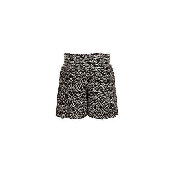 TopShop Maternity Tile Print Shorts (12 NZD) ❤ liked on Polyvore featuring maternity