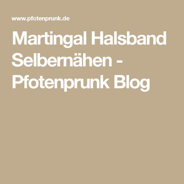 Martingal Halsband Selbernähen - Pfotenprunk Blog