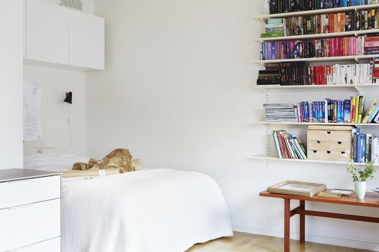 Sovrum bokhylla sideboard