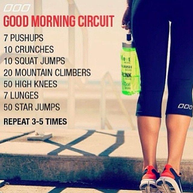 Good morning workout circuit