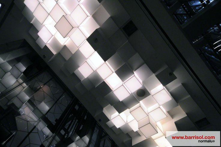Barrisol block ceiling