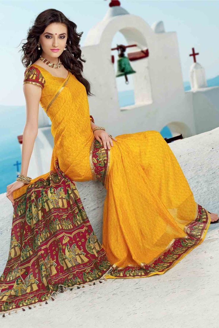Designer Trendy Crepe Silk Sarees available at unbeatable prices. Express Free Shipping Worldwide. Shop here - http://bitly.com/1uh1siU