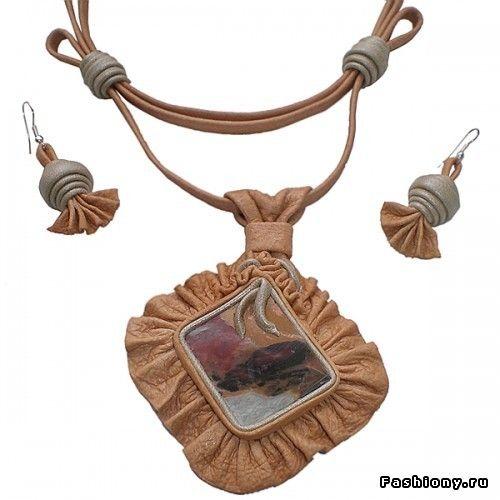 Украшения из натуральных материалов от «Prama»: из кожи и камня. Часть II / браслеты из натуральной кожи