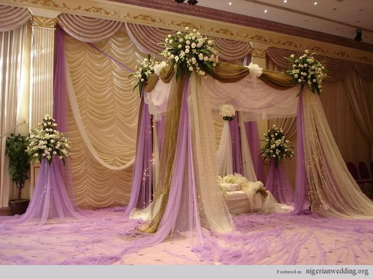 21 stunning nigerian traditional engagement wedding for Home wedding reception decorations