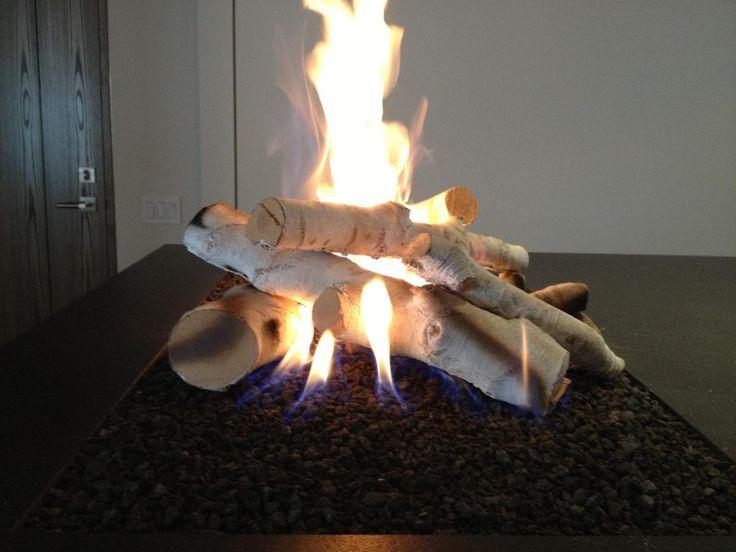 Black Stone & Birch logs for Gas Fireplace