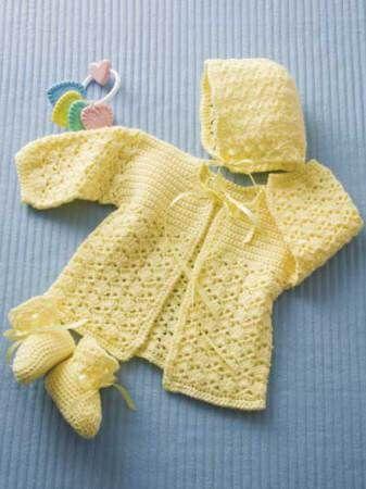 Lemon Drops Crochet Baby Set Free Pattern