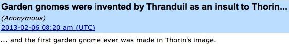 Thranduil's a troll.
