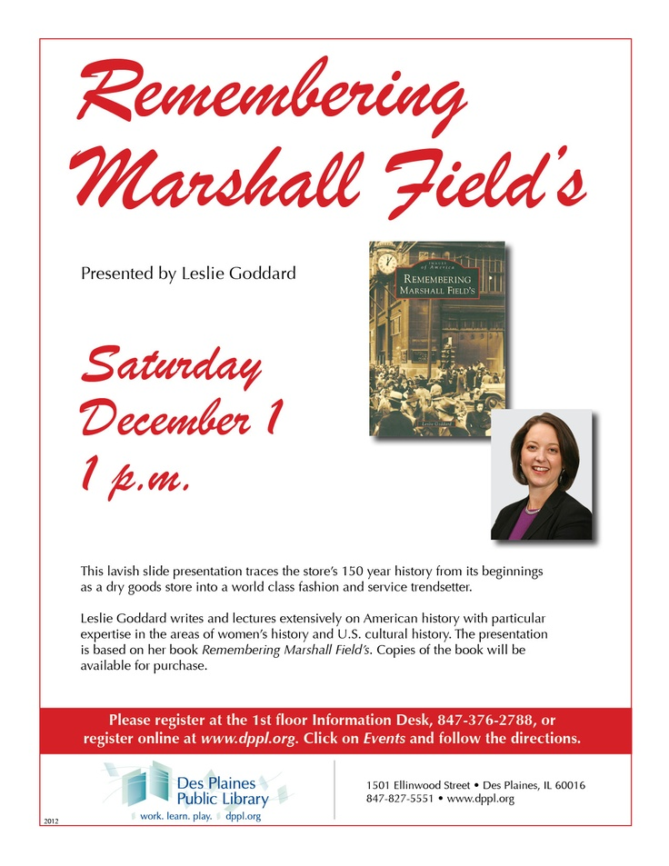 Remembering Marshall Field's, Saturday December 1st. For