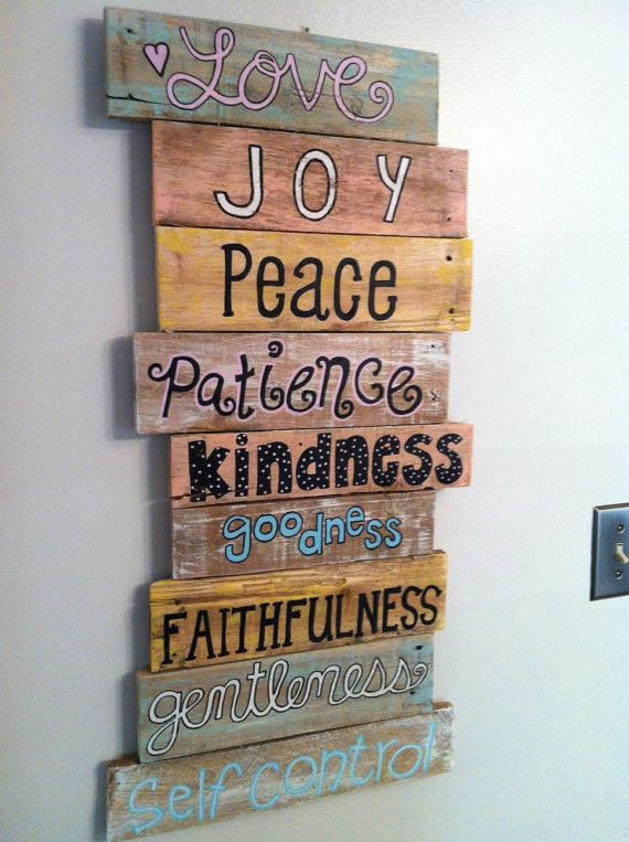 Wall Decor With Bible Verses : Wood pallet art wall decor bible verse series fruit of