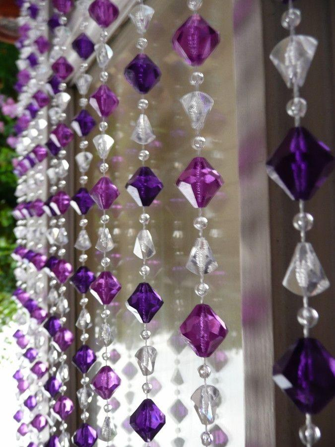 25 best ideas about mirrored closet doors on pinterest - Purple beaded door curtains ...