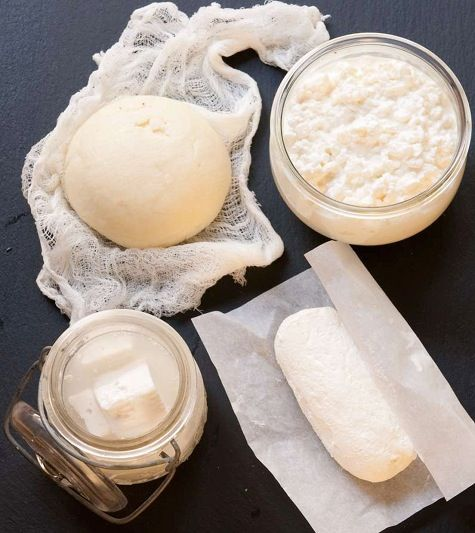Homemade raw milk cheeses, Image from Home Dairy by Ashley English