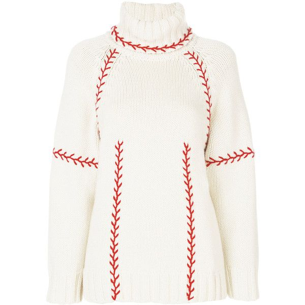 Alexander McQueen chunky turtle neck jumper (40.539.160 VND) ❤ liked on Polyvore featuring tops, sweaters, white ribbed turtleneck, chunky white sweater, ribbed sweater, turtle neck sweater and ribbed turtleneck