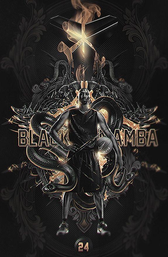 Kobe Bryant 'Opulent Black Mamba' Art