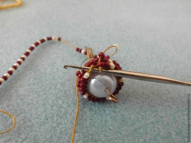 Обвязываем бусину бисером - Ярмарка Мастеров - ручная работа, handmade