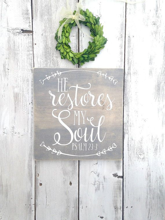 Bible verse sign scripture sign He by WoodenThatBeSomethin on Etsy