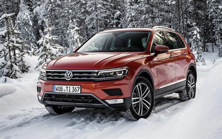 Volkswagen Tiguan 2017 Winter Snow Forest Red Tiguan Crossover Vw Tiguan Vwtiguaninterior Volkswagen City Car Cars
