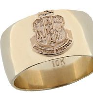 HJGreek   Alpha Kappa Alpha   Rings   Crested Band Ring