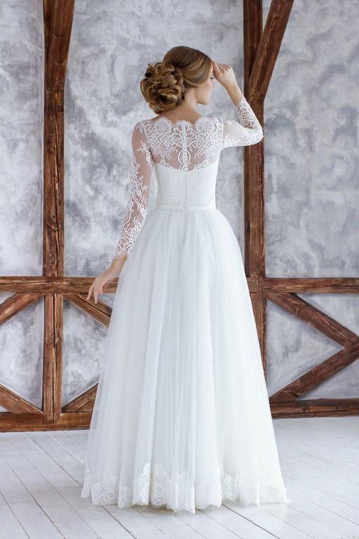 """Коллекция """"ODRI Love Voyage"""" - Лиссабон, свадебное платье, длинный рукав, свадебное платье с закрытой спинкой, свадебное платье А силуэта, wedding dress, wedding"""