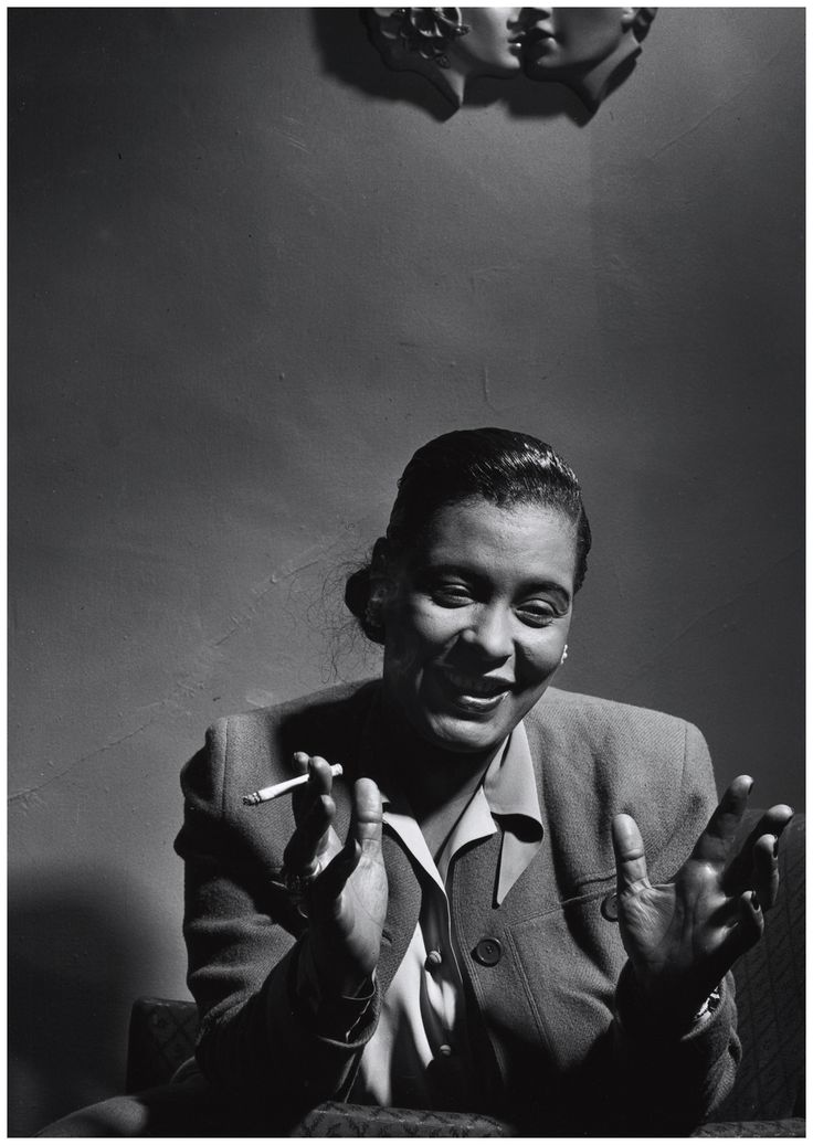 """The whole of my singing is feeling. Unless I feel something, I can't sing."" - Billie Holiday pic by Herman Leonard, 1949"
