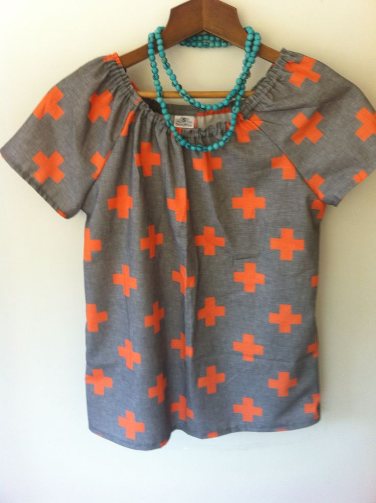 Orange cross froufrou