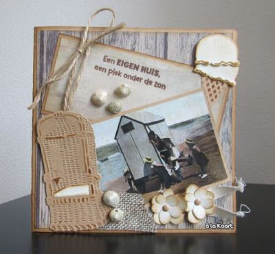 Card made by DT member Anita with among others Creatables Beach Chair (LR0364), Ice Cream with Scoops (LR0365) and Collectables Flower set (COL1323) by Marianne Design
