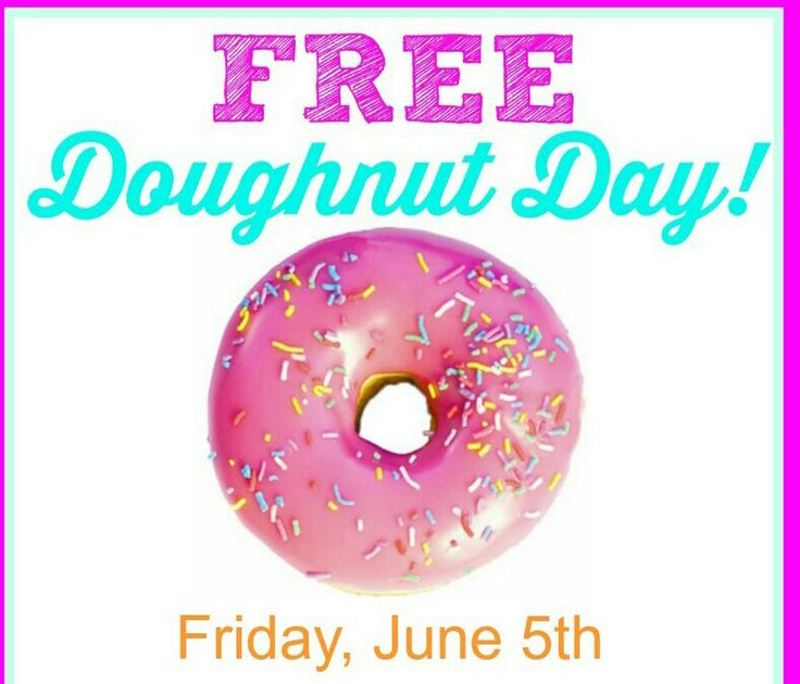 FREE Donuts!!!!!!!!!!!!!!!!!  Friday June 5th is National Donut Day and Krispy Kreme & Dunkin' Donuts are celebrating by giving away FREE Donuts.  On Friday, June 5th get a free doughnut at participating Krispy Kreme locations no coupons or purchase necessary.  On Friday, June 5th get a free donut with any  purchase at participating Dunkin' Donuts locations.  Please share and enjoy.