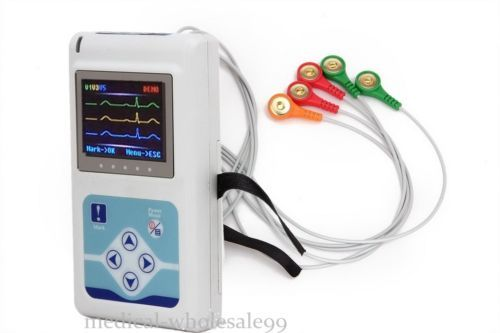 3-Channel 24h Holter Recorder ECG Heart CardioScape Monitor  Software USA Fas