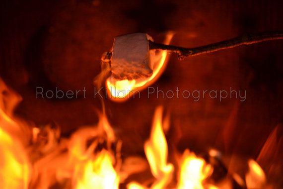 Campfire Marshmallow - Digital Photo