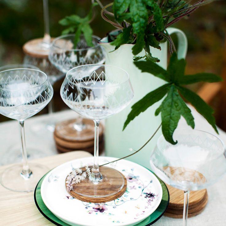 "Duka Kitchen Life glass ""Drink"" - designed by Karin Steen. Photographer: Pernilla Sjöholm Styling: Sofia Jensen Magazine: ""Hemma med Ernst"" (Sweden)."