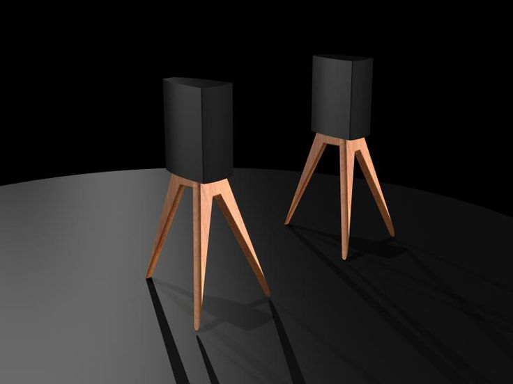 "New ""tripod"" bookshelf speaker stands available in various heights."