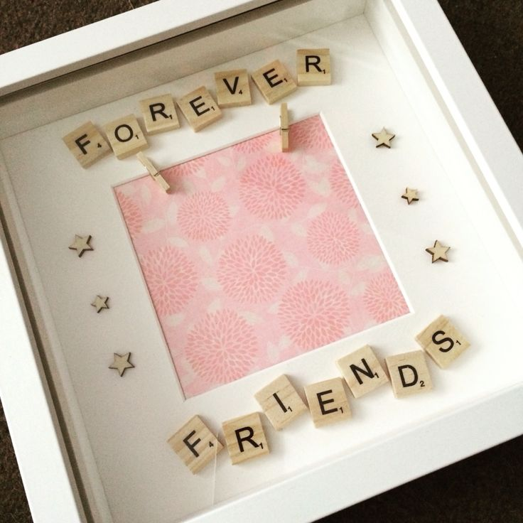 Forever friends scrabble photo frame