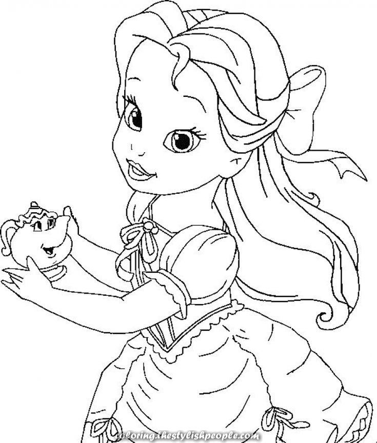 Lovely Coloring Pages Printable 41740 Disney Princess Coloring Pages Belle Coloring Pages Princess Coloring