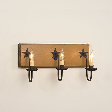 12 best images about primitive wall mount vanity mirror lights on pinterest colors tins and - Primitive bathroom vanity lights ...