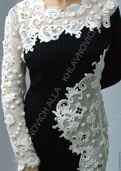 Купить или заказать Платье 'Мороз на стекле рисует' Модель №781 в интернет-магазине на Ярмарке Мастеров. Платье ручной крючковой вязки в технике 'Ирландское кружево'. Возможно исполнение в другой цветовой гамме.